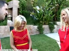 sinless blonde cheerleader learns how to fuck and