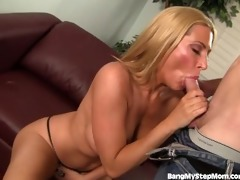 sexy stepmom caught in the act
