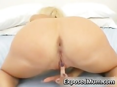 biggest tits mamma in thong fingering her part2