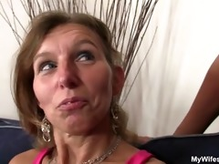 she is watches her old mom gets fucked