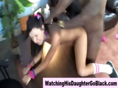 interracial darksome guy copulates white girl