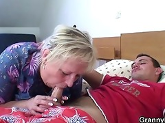old granny is banged by an youthful pickuper