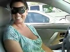 breasty housewife visits glory hole