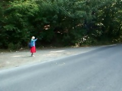 he is picks up and copulates hitchhiking granny