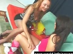 cougar seduces cute young lalin girl