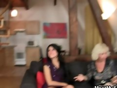 she gets lured into three-some by her bfs parents