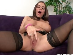 busty d like to fuck hottie devours a large weenie