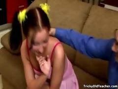 young sexy schoolgirl perverts her old professor