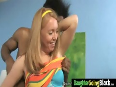 constricted young teen takes large dark pecker 5