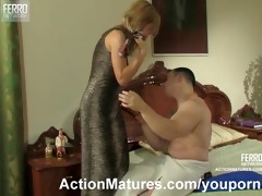 mother i in darksome stockings seduces a chap