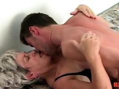 lewd granny gets a taste of recent cock