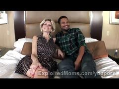 real non-professional mama in interracial movie