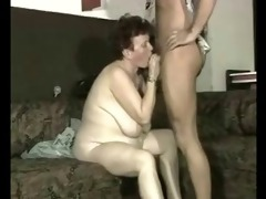 wench granny hard drilled by younger man. amateur