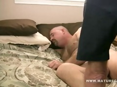 stocky mature stuff his friends a-hole with cock