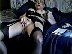 mommy shows and rubs pussy.