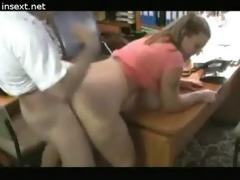 the sister-secretary doing her job