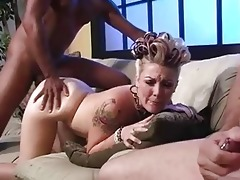 daddy jerks off whilst babe receives fucked