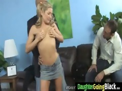dady watching his daughter banged by black 22