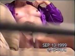 through window. my sister caught masturbating