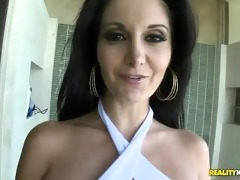 ava addams does the giant titty pool side slide