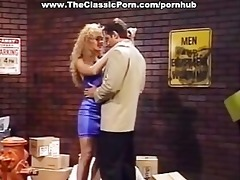 charming blond classic porn star