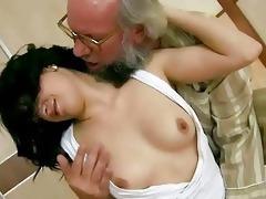 grandpapa fucks his young girlfriend