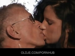 young girl copulates the old man for being meddler