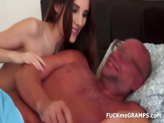 horny grandpa and his younger girlfriend