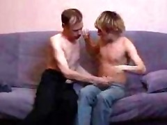 older gay daddy and twink stripping and kissing