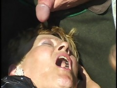 grandma gets gang group-fucked in the corn fields