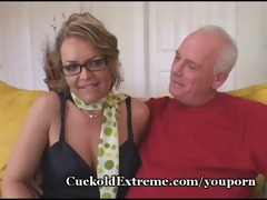 mature cougar attacks youthful dude