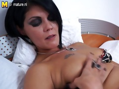 hot cougar sexy mother alone on her couch