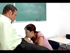 nerdy oriental lystra is fucked by teacher