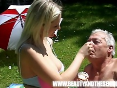 young breasty angel fucked by an old fat boy