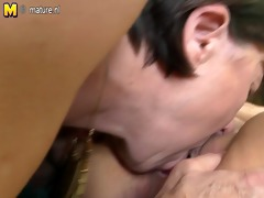 four old and youthful lesbian group sex