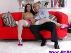 babe in nylons sucks old man