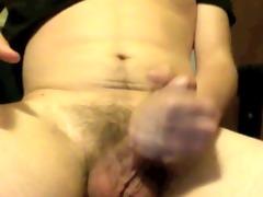 youthful wanker masturbates and blows a large