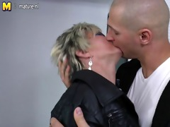 hawt slender grandma acquires fucked by her toy