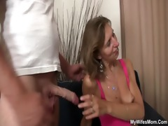 daughter watches him fucking her old mother