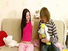 tiny slim teen sister tina family sex with step