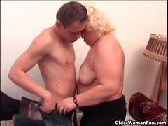 chubby granny likes to give and acquire