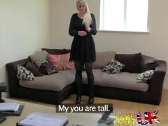 fakeagentuk tall blonde milf desires hard schlong