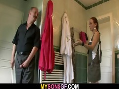 oral-service exchange with his daddy and gf