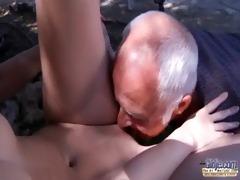 oldman have to pleasures horny youthful landlady