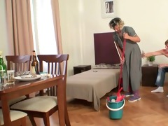 older housemaid acquires her pussy filled with