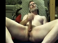 college professor daddy fingers his a-hole on