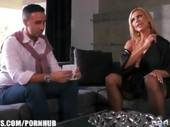 busty blonde milf amber lynn seduces keiran lee