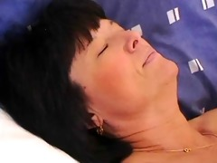 unshaved granny goes anal