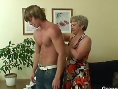 lonely granny receives fucked in various positions