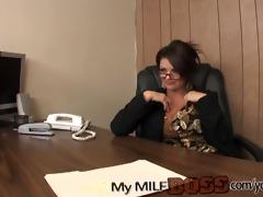 fortunate dude nailing his milf boss